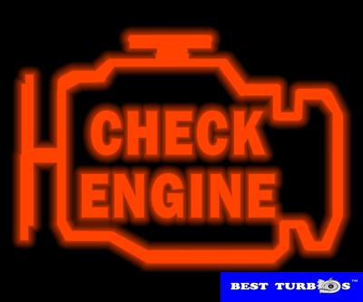 check engine light on dashboard