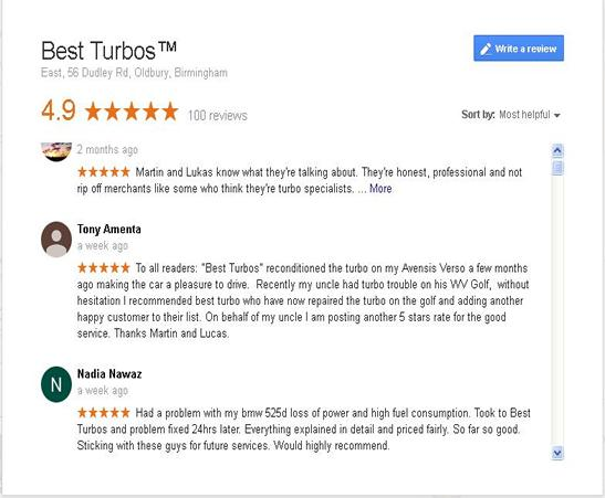 best turbos reviews google maps